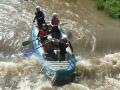 první raft - Peťka, Zub, Marťa, Dan a Pípa