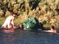 nouzové překonávání řeky za polárním kruhem